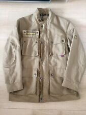 Belstaff Jacket Small / Medium Linen Blend Classic Biker Scooter Trailmaster