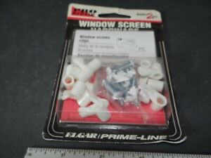 """Prime Line #PL-7773 Screen Clip With Screws, 5/16"""", white, Pack of 12  NEW"""