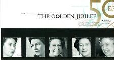 Great Britain 2002 Qeii Golden Jubilee Presentation Pack 331 with 5 Stamps