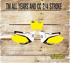 TM RACING MOTOCROSS  NUMBER BOARD AIRBOX GRAPHICS ALL YEARS AND CC