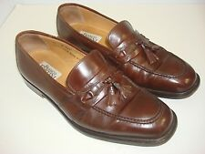 Franco Fortini Made in Italy Men's Brown Tassel Loafers Sz 10