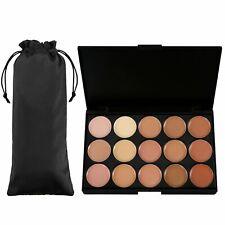 Kit de Contorno de Rostro Resaltador Kit De Maquillaje Crema Corrector Paleta 15 Colores