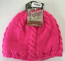 83fb9eddf81 Turtle Fur Women s Cabler Heavyweight Merino Wool Blend Hand Knitted Beanie  Pink