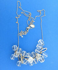 American Eagle Outfitters AEO Large Clear Cluster Long Necklace Chain