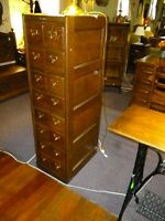 Antique Oak File Cabinet 16 Drawer Sports Card Collectors refinished 1900's