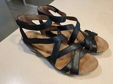 """DANSKO Women's """"Veruca"""" Black Strappy Gladiator Sandals Size 40"""