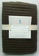 POTTERY BARN KIDS KINGSTON QUILTED SHAM BROWN EURO #1380