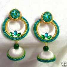 Beautiful designer silk thread Earring charms Jhumka (color can be customized)