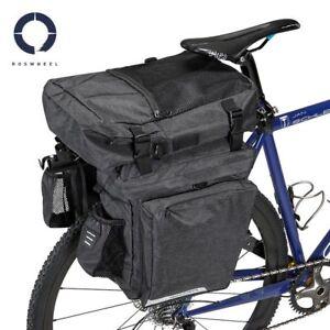Roswheel Essential 40L bike triple 3 in 1 pannier bag set grey black cycle