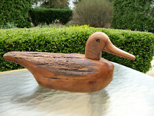 Vintage Ken Capps Hand Carved Rustic Wooden Duck Decoy Signed By Artist