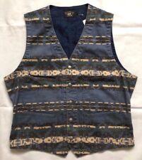 Ralph Lauren RRL Double Rl blankiet Indigo Vest Vest talla XL