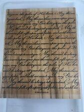 SCRIPT IRISH BLESSING Stampin Up Background Rubber Stamp CURSIVE Words Prayer