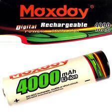1 x maxday batteria agli ioni di litio 3,7 V Li-ion 4000 mAh tipo 18650 65 x 18 mm