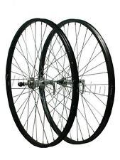 """LEGA 26"""" Q/R COPPIA RUOTE Screwon HUB Mountain Bike Nero Anteriore Posteriore Assale"""