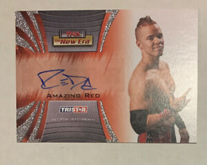 AMAZING RED  2010 Tristar TNA NEW ERA Autograph Auto A17