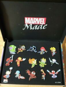 Marvel Made Skottie Young Set #671 of 2500 includes 15 Pins Notebook Custom Box