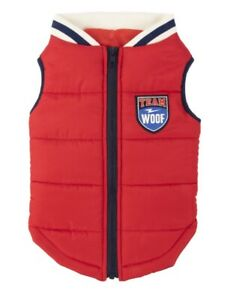 Vibrant Lilfe Red Full Zip Dog Doggie Apparel Coat Size M 20-50 lbs NEW Team WOO