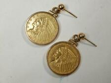Antique 1912 US eagle  gold coin earrings 2 1/2  dollars Gold stud posts BLP