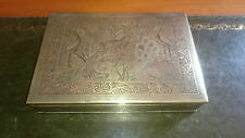 Indian Brass Cigarette Box