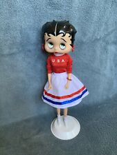 Betty Boop Doll On Stand- Usa Attire