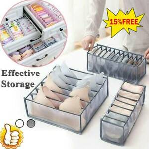 Foldable Storage Drawer Organizer Bra Underwear Closet Divider Kit Wardrobe