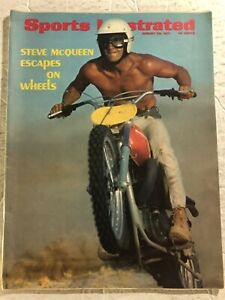 1971 Sports Illustrated STEVE McQUEEN Motor Cross HARLEY Indian THE GREAT ESCAPE