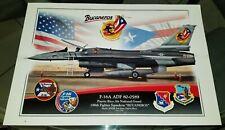 poster profile PRANG F-16A  ADF 50th 198FS 156th Bucaneros Puerto rico Air Guard