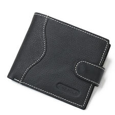 Fashion Men's Wallet Genuine Leather Men's Real Leather Wallet with Coin Pocket
