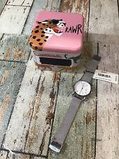 Fossil Women's The Commuter ES4331 Silver Stainless-Steel Quartz Watch *READ*