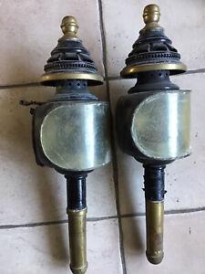 Anciennes Lanternes De Fiacre Ou Caleche 49 Cm