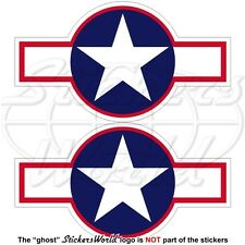 United States USAAF Aircraft Roundel 1943 USAF NAVY WW2 Decals 95mm x2 Stickers