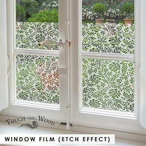 Twigs & Flowers Privacy Window Film Pattern, Etch Effect Adhesive Sticker  #088