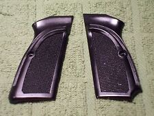 Custom Grips for Browning Hi-Power Black with Lanyard Cutout