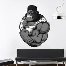 Monkey Wall Decals Full Color Bodybuilder Sticker Sport Gym Decor Art Home DD176
