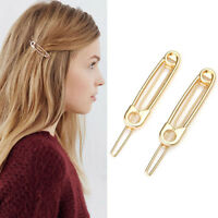 2pcs Fashion Women Girls Paperclip Hair Pin Barrette Clip Hairpin Stick Headwear