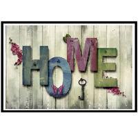 Wood home DIY 5D Diamond Painting Embroidery Cross Stitch Decor Needlework_S