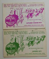 2 Vintage 1971 catalogues Windsor Woollies 1970s childrens fashion clothing m