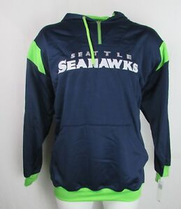 Seattle Seahawks NFL Men's Big & Tall Blue 1/4 Zip Hoodie