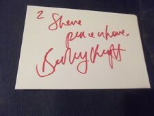 Come As You Are Soul Singer BEVERLEY KNIGHT hand signed card