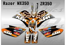 Razor MX350 graphics kit decals THICK AND HIGH GLOSS