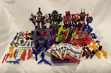 Transformers Construct-Bots Lot Of Figures And Parts Hasbro Decepticons Autobots