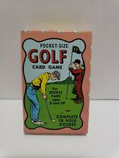 RARE Vintage Warren Paper Products Golf Card Game NEW SEALED 50s
