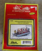 JL Innovative Design HO Scale 1:87 Vintage Pontoon Trailer and Acc Kit NIP 458
