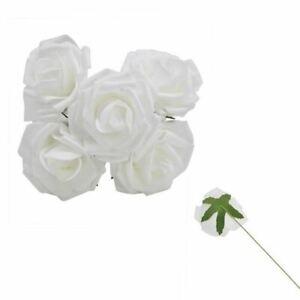 8cm Big PE Foam Flowers Artificial Rose Flower Bridal Bouquet Wedding Christmas