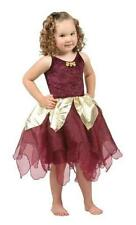 Deep Woods Burgundy Fairy Dress up trunk halloween Costume NEW SZ 5-7 yrs 6X