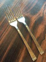 """Tahoe  Farberware Stainless Flatware  2 Salad Forks  6 5/8"""""""
