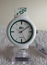 Reloj de cuarzo Lacoste Goa 2010522 Unisex para Hombre Damas de Japón Blanco Verde-Nuevo