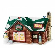 Department 56 Snow Village Girl Scouts Camp Log Cabin Retired