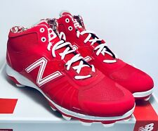 New Balance Mens Size 12.5 Red Rev Lite White Molded Mid Baseball Cleats