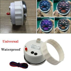Digital Stainless 85mm Backlight 8K RPM Tachometer With Hourmeter For Car Boat